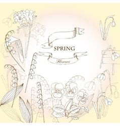 Background with snowdrops vector