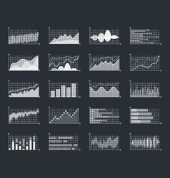business financial market information graphs vector image vector image