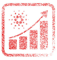 Cardano growth chart framed stamp vector