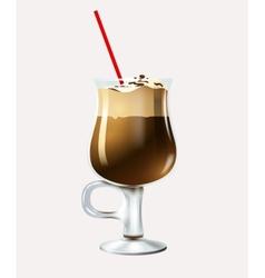 Cartoon latte vector image