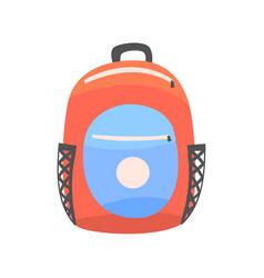 Colorful backpack rucksack for school or travel vector