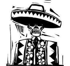 Day of the Dead 1 vector image vector image