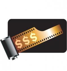 dollar film vector image