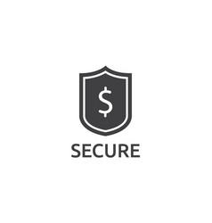 dollar shield icon money security protection vector image vector image