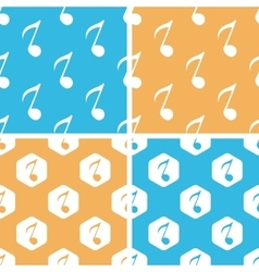 Eighth note pattern set colored vector
