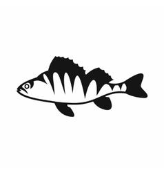 European perch perca fluviatilis icon vector