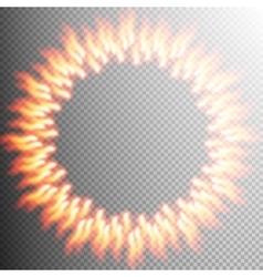 Fire transparent background design element EPS 10 vector image vector image