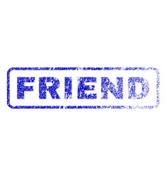 friend rubber stamp vector image