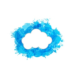 Grungy frame with cloud vector