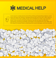 healthy medical help template vector image
