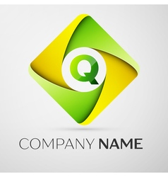 Letter Q logo symbol in the colorful rhombus vector image vector image