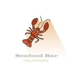 Lobster color icon vector