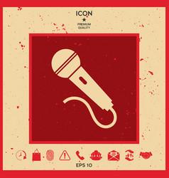 microphone symbol icon vector image vector image