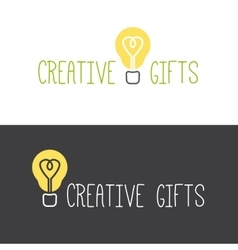 minimalistic gifts store logotype vector image vector image