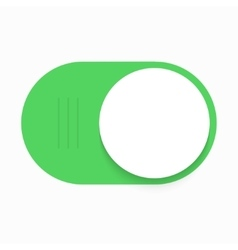 Modern green slider button on white vector