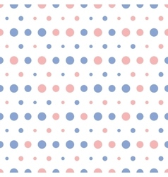 Pattern colorful polka dots on white vector