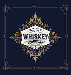 retro logo for whiskey vector image vector image