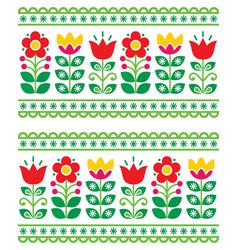 scandianvain folk art pattern - seamless vector image vector image