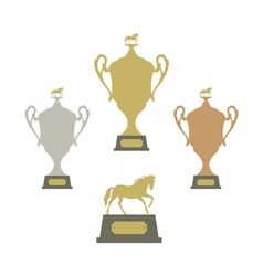 Sports trophies vector