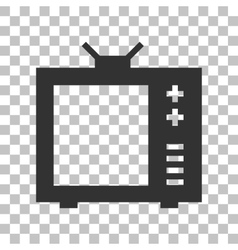 TV sign Dark gray icon on vector image vector image