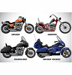 types of motorcycle part 3 vector image