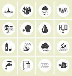 water icons for web vector image vector image