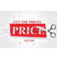 Sale and discounts cut prices design for banner vector