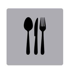 Figure emblem metal cutlery icon vector