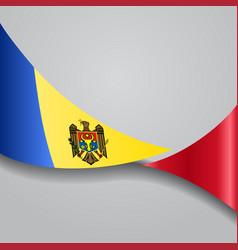 moldovan wavy flag vector image