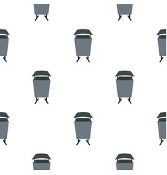 Metal rubbish bin pattern seamless vector