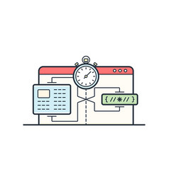 Website speed loading time vector