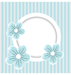 Retro stripped flower background vector image