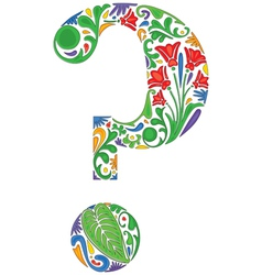 Floral question mark vector