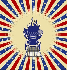 Red White and BBQ vector image