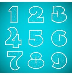 Connections Alphabet Font Set 4 Numbers 1 to 9 vector image