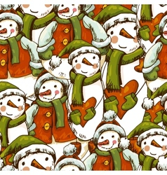 Hand-drawn christmas seamless background vector