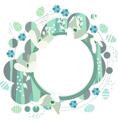 Spring frame with white snowdrops vector
