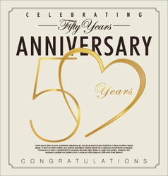 50 years Anniversary background vector image