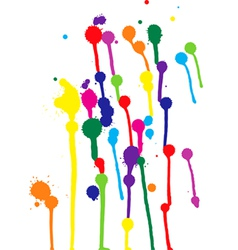 Colorful blots vector