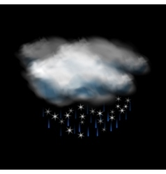 Cloud and rain and snow icon vector