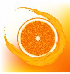 orange with a wave juice vector image