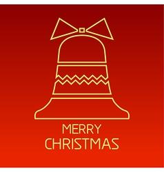 christmas outline 3 vector image