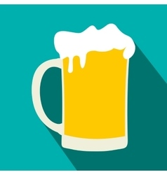 Mug of beer flat icon vector