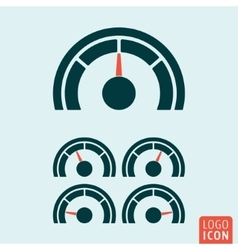 Gauge icon isolated vector image