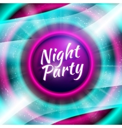 Premium flyer template for night party vector