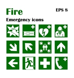 Fire emergency icons  fire vector
