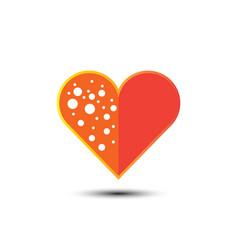 abstract heart logo vector image vector image