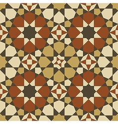 Arabesque seamless pattern in orange and brown vector image