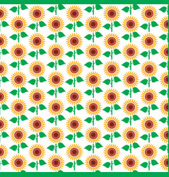 background pattern with sunflower vector image vector image