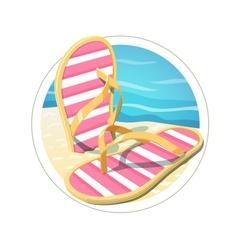 Beach flip flops vector image vector image